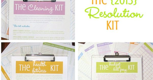 N.) The Resolution Kit (16documents)-$25.00-Clean Mama Printables.