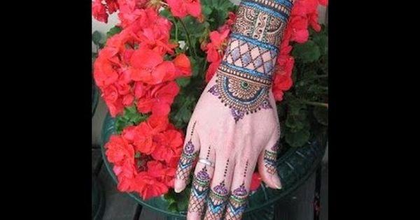 نقش حناء هندي أجمل نقشات الحناء الهندي 41 صورة Henna Tattoo Arm Warmers Henna