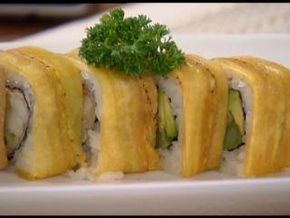 Tempura Dragon Roll De Plátano Maduro Receta Sushi Recetas Rollitos De Sushi Receta De Tempura