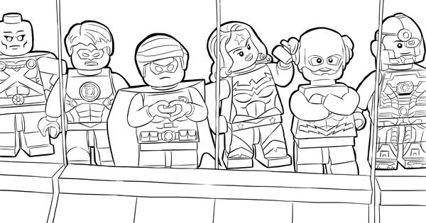 LEGO DC Universe Super Heroes Coloring Pages : Free
