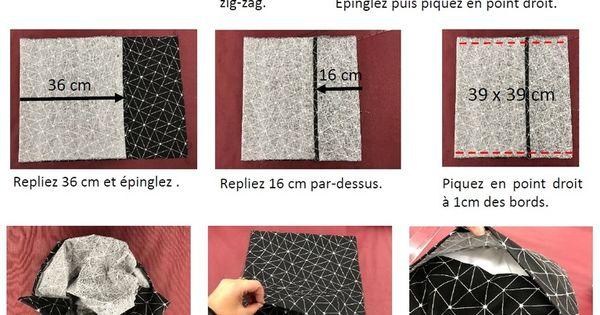 tuto housse de coussin portefeuille sewing pinterest tuto housse de coussin portefeuilles. Black Bedroom Furniture Sets. Home Design Ideas