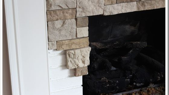 Diy Stone Fireplace Makeover Would Also Work Under The