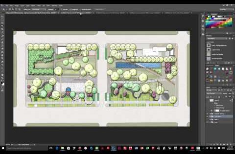 Plan rendering in color using photoshop tutorial 1 for Site plan rendering software