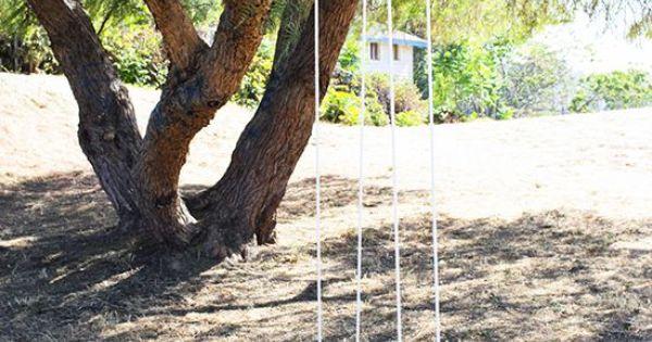 Como hacer un columpio de madera colorido patio and bonito - Como hacer un columpio de madera ...