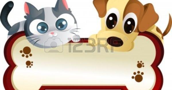 A Vector Illustration Of A Dog And A Cat Banner Cartoon Dog Cat Art Cat Clipart