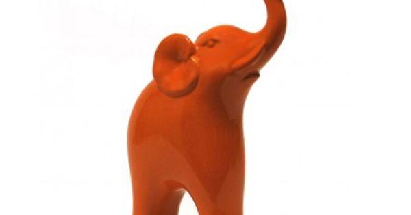 Orange Elephant / Inspired Decor/ War Eagle