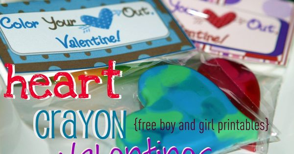 crayon hearts....cute valentine idea