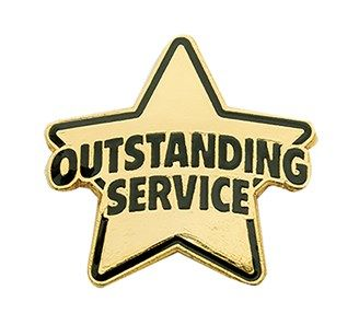 Outstanding Service Pin Jones School Supply School Supplies National Volunteer Week Volunteer Recognition
