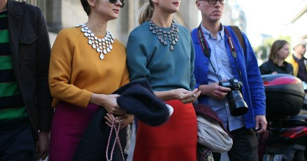 :: colorful ladies + statement necklaces::