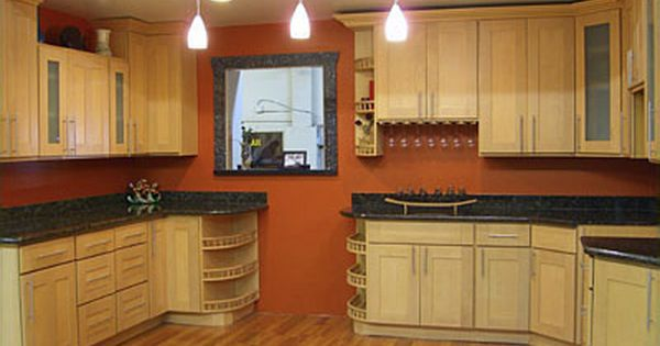 Best paint colors for kitchen with maple cabinets google for Best paint for kitchen walls