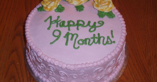 Cake Design For Monthsary : happy 9 month anniversary Month Anniversary Cake ...