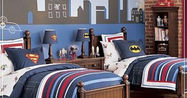 Diy super hero kids bedroom dormitorios ni os cuarto for Dormitorio super heroes