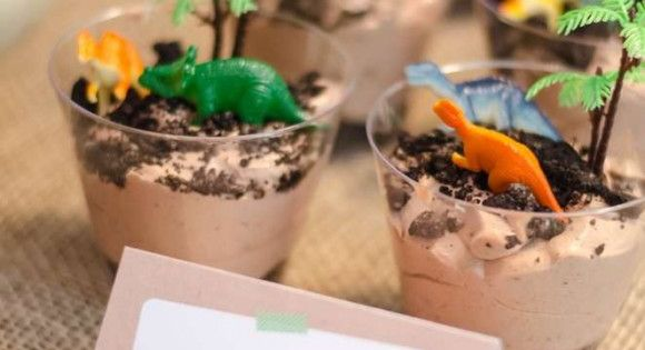 10 Must Haves For Your Jurassic World Party Pudding Cups