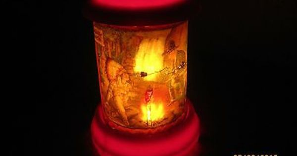 1950 Econolite Hopalong Cassidy Campfire Motion Lamp Motion Lights Lamp Novelty Lamp