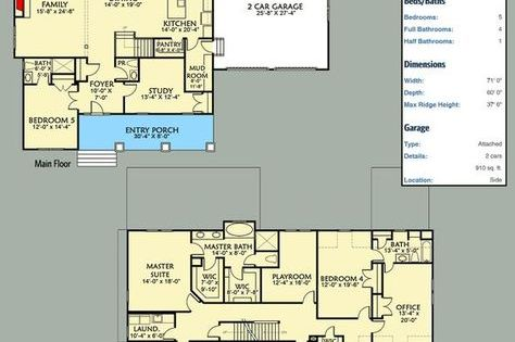 Plan 500011vv 5 Bed Craftsman With Board And Batten