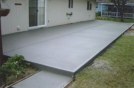 How To Calculate Concrete Needed To Pour A Slab Hunker Concrete Patio Designs Poured Concrete Patio Concrete Patio
