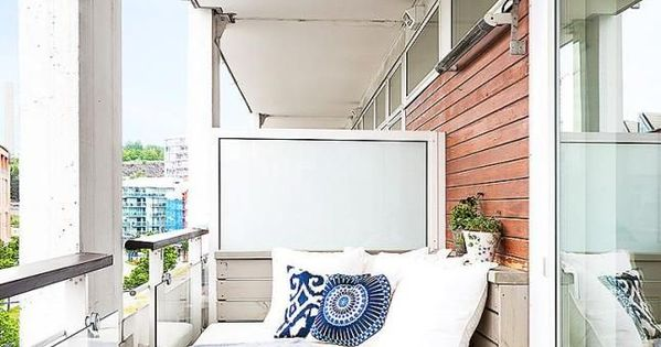 inspiration balcon banquette balcons et idee deco. Black Bedroom Furniture Sets. Home Design Ideas