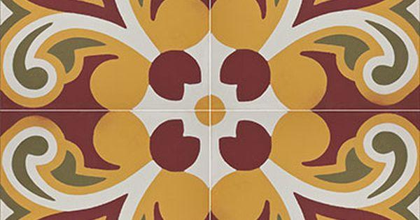 Piso Tangier 1017 A Diseño Mosaico Personalizado Colores Moztaza Blanco Verde Olivo Rojo Cordoba Estilo Eclectic Uso Azulejos Mosaicos Pisos