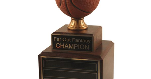 Perpetual Wood Fantasy Basketball Trophy Fantasy Basketball Basketball Trophies Basketball Games Online