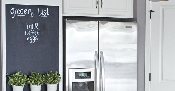 Decora con pintura de pizarra pintura casa y pizarra de - Pizarras de cocina ...