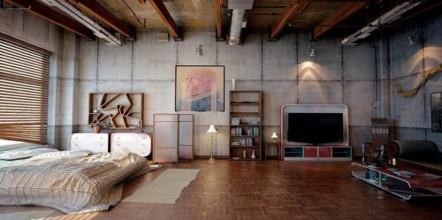 My Little Dream Home Tumblr Industrial Bedroom Design Industrial Style Bedroom Loft Spaces