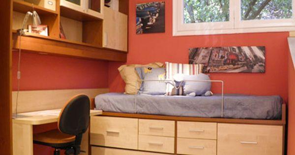 R243 juvenil compacto de cama nido con cajones armario - Fabrica muebles barcelona ...