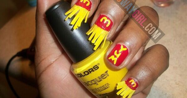 Ghetto McDonalds French Fries Nail Design - NoWayGirl ...