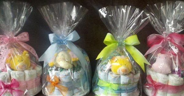Little Diaper Cake Cute Gift For A Babyshower They Will