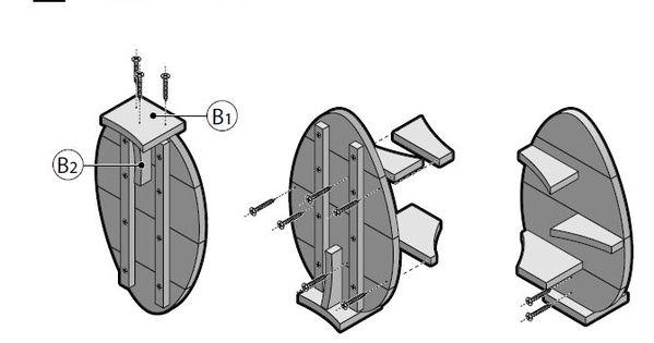 Stappenplan bouwtekening voor een wandplank van steigerhout steigerhout pinterest - Voorbeeld van tuindecoratie ...