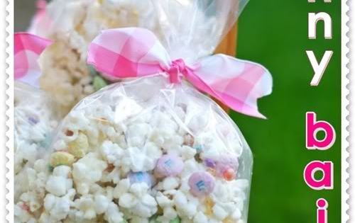 Bunny Bait- microwave vanilla candy melts add to 2 full bags of