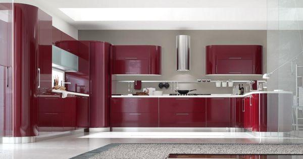 Cocinas integrales modernas rojas decorar una cocina con - Cocinas rojas ...