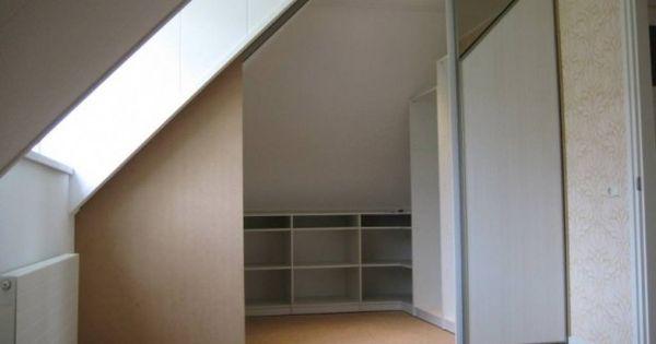 Weer een idee voor onder een schuin dak in de slaapkamer kast pinterest weer slaapkamer - Eenvoudig slaapkamer model ...