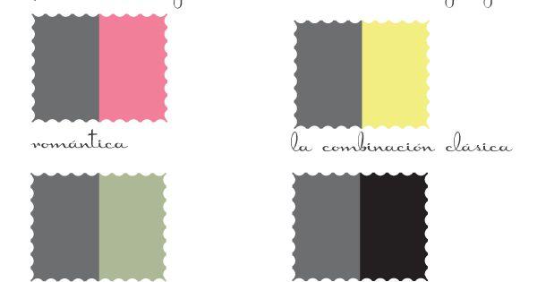 Combinaciones con gris colores pinterest - Combinaciones con gris ...