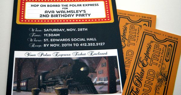 polar express birthday party - Love!