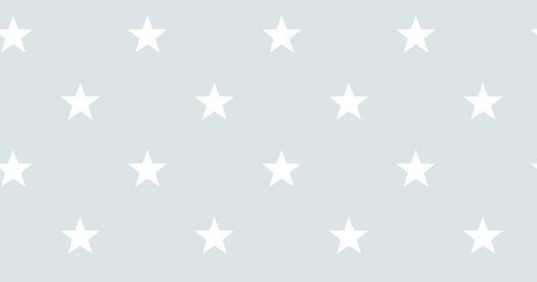 Babykamer Behang Ster : Noordwand Sterrenbehang in vergrijsd blauw wit ...