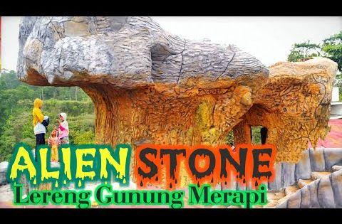 Alien Stone Wisata Baru Di Lereng Gunung Merapi Batu Alien Gunung Merapi Jogja Youtube Alien Perjalanan Mainan Anak
