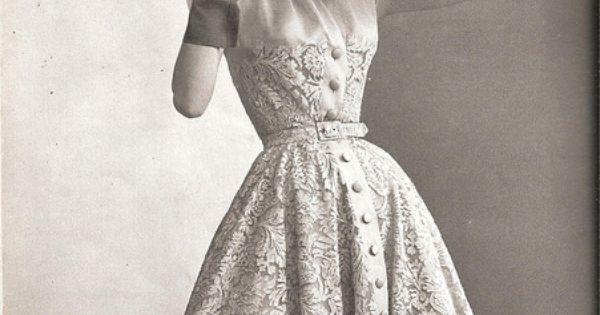 by Pierre @Balmain (1950s) Fashion Photography FashionRecap PastSplash BlackAndWhite