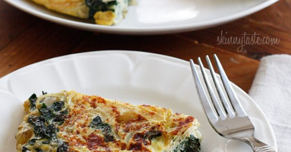 Light Swiss Chard Frittata breakfast frittata light lowfat swisschard