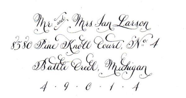 Lacy Shimmer invitation suite | Teckensnitt, Kalligrafi och Etsy