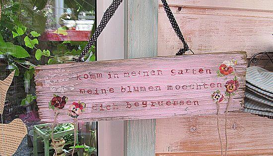Foyer Des Arts Komm In Den Garten : Schild komm in meinen garten von l i ebenswert