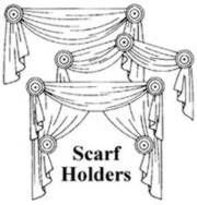 Lovely Swag Holders Scarf Holder Window Swags Scarf Valance