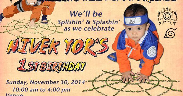 Naruto Birthday Party Invitation Card With Images Naruto