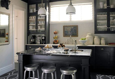 black Kitchen Remodel Ideas W Island | modern house: modern elegant black