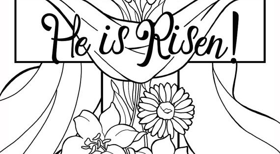 He is Risen coloring pages Perfect