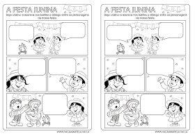 Linguagem E Afins Atividades Galinha Ruiva Cordel Juninas Texto