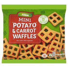 Asda Mini Potato Carrot Waffles Asda Groceries Online Food