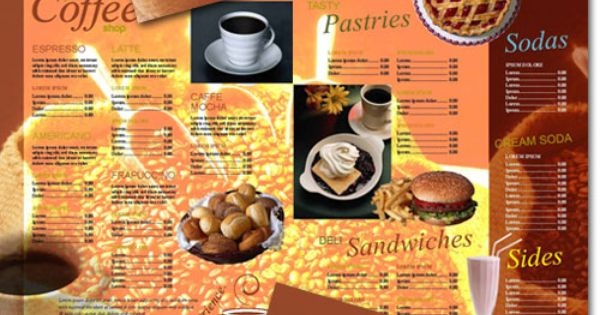 how to make a coffee menu indesign