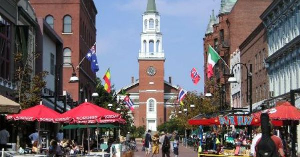 Love the hustle and bustle of Church Street Marketplace in Burlington, Vt.