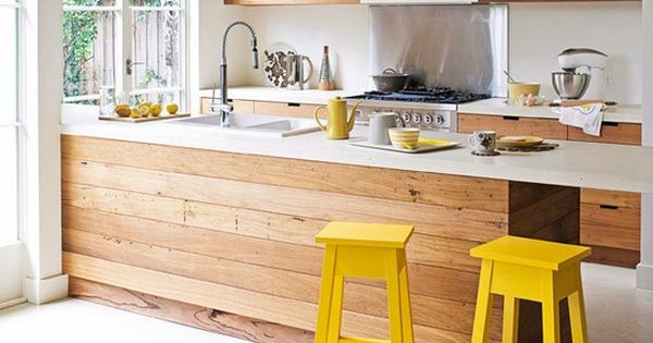 Wood, white and yellow kitchen interior kitchen interior design kitchen designs kitchen