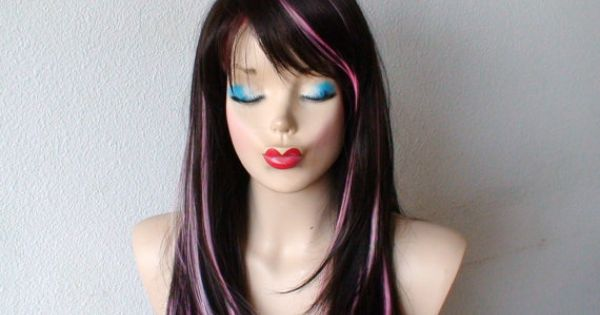 Black hair with pink highlights trendy hairstyles in the usa black hair with pink highlights pmusecretfo Images